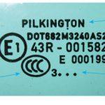 Пример маркировки Pilkington